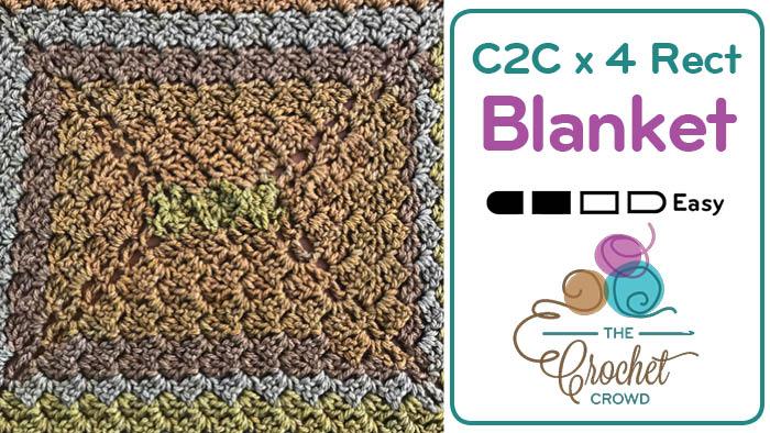 Crochet C2C Rectangle x 4