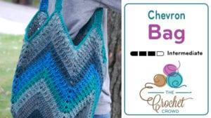Crochet Chevron One Big Cake Bag by Jeanne Steinhilber