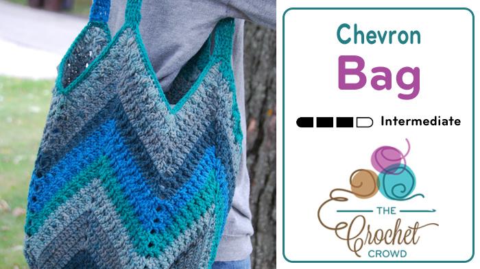 Crochet Chevron One Big Cake Bag Pattern