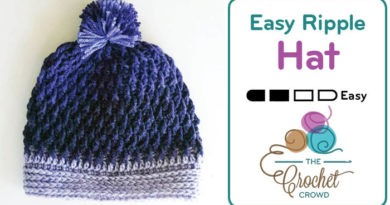 Crochet Easy Ripple Hat