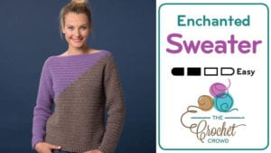 Crochet Enchanted Slanted Sweater