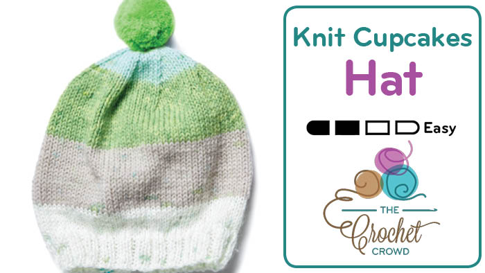 Knit Caron Cupcakes Hat – Pattern on Label