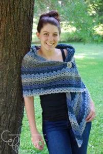 Crochet Nightberry Shawl by Jeanne Steinhilber