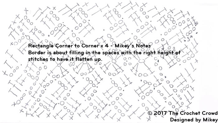 Crochet Rectangle Corner to Corner x 4, Border Round