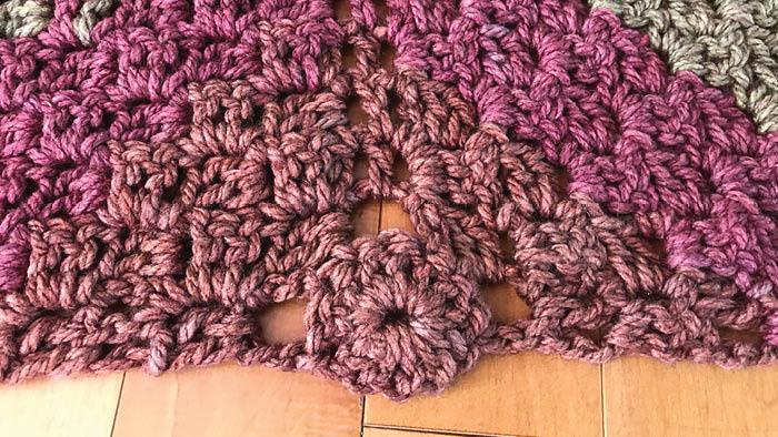 Crochet Tea Cakes Shawl: Top Down Corner to Corner