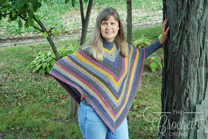 Crochet Fall Poncho Pattern by Jeanne Steinhilber