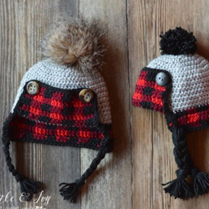 10 Baby Plaid Trapper Hat