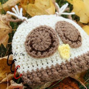 18 Preemie Newborn Sleepy Owl Hat