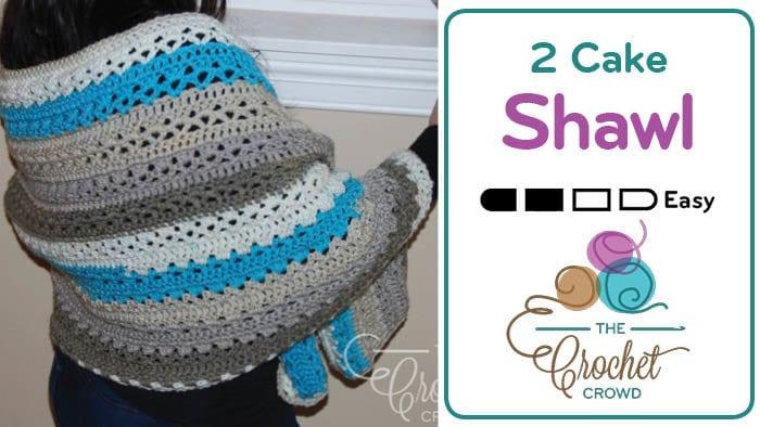 Crochet 2 Caron Cakes Shawl