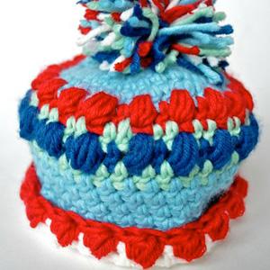 25 Newborn Puff Stitch Beanie