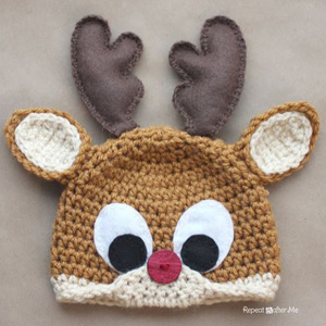 3 Rudolph the Reindeer Hat