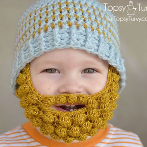 5 Bobble Bearded Beanie