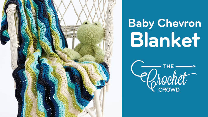 Crochet Baby Chevron Blanket