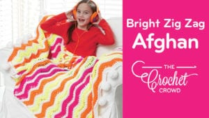Crochet Bright Zig Zag Afghan