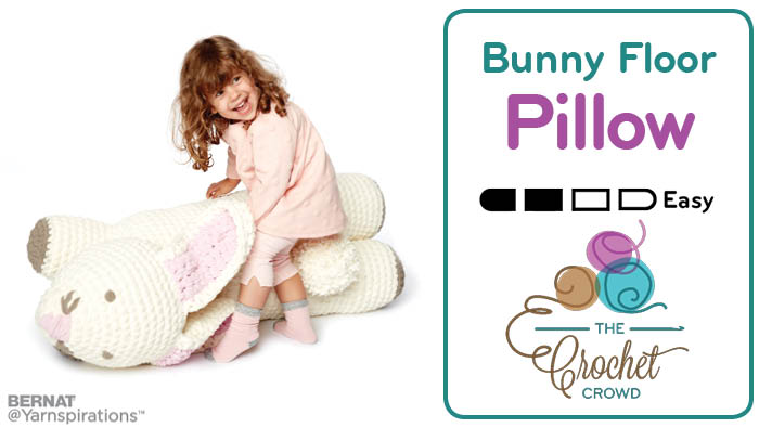 Crochet Bunny Floor Pillow