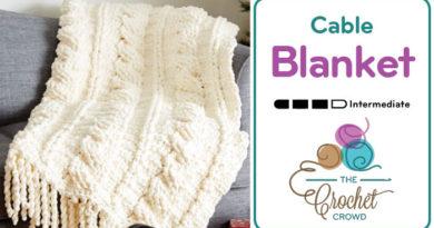 Crochet Cable Blanket with Bernat Blanket
