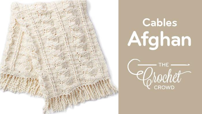 Crochet Cable Blanket Pattern + Tutorial