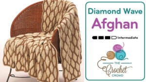 Crochet Diamond Wave Afghan