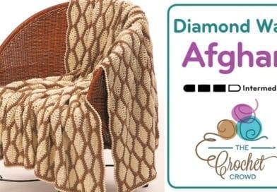 Crochet Diamond Wave Afghan
