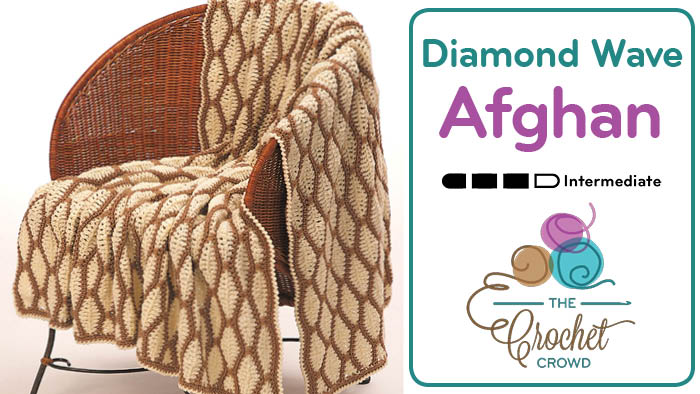 Crochet Diamond Wave Afghan Pattern