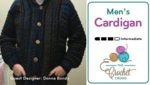 Crochet Men's Cardigan