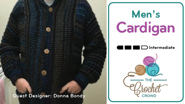 Crochet Men's Cardigan