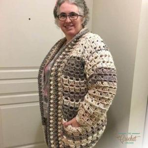 Crochet Modern Granny Cardigan by Donna Bondy