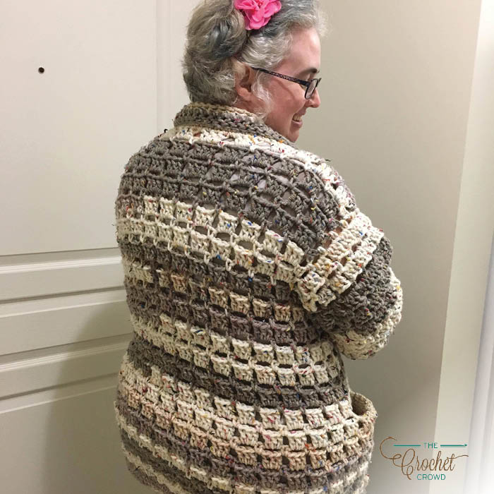 Crochet Modern Granny Cardigan by Donna Bondy
