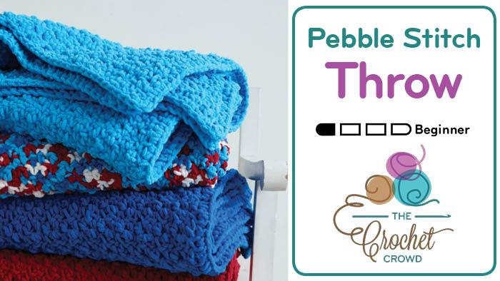 Crochet Pebble Throw Pattern + Tutorial