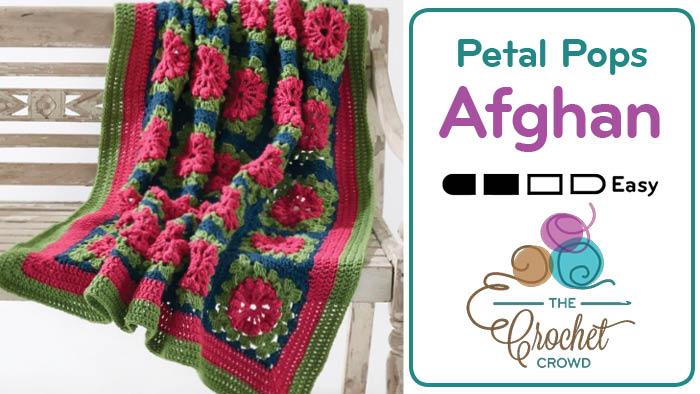 Crochet Petal Pops Afghan