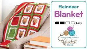 Crochet Reindeer Blanket