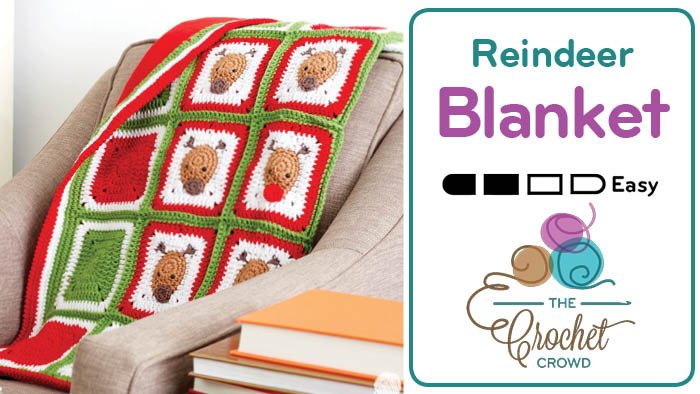 Crochet Reindeer Blanket Pattern by Repeat Crafter Me