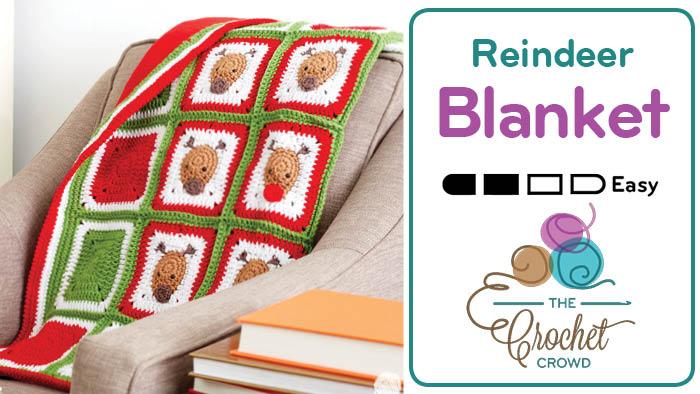 Crochet Reindeer Blanket Pattern