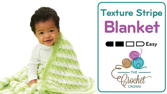 Crochet Textured Stripes Baby Blanket