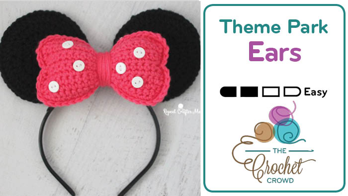 Crochet Minnie Mouse Ears Pattern