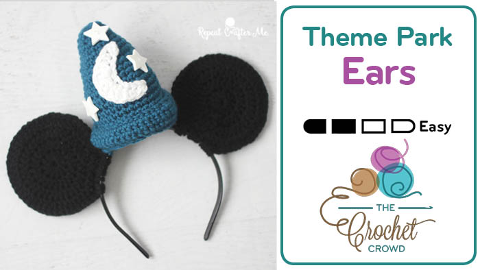 Crochet Fantasia Ears Headband