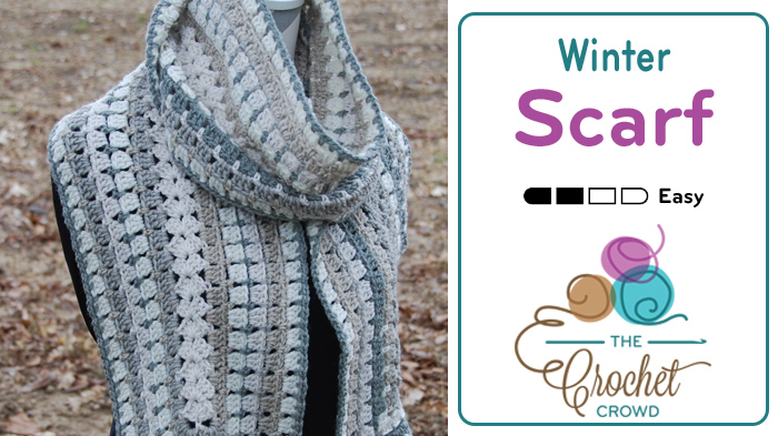 Crochet Modern Granny Winter Scarf Pattern Photo Tutorial The