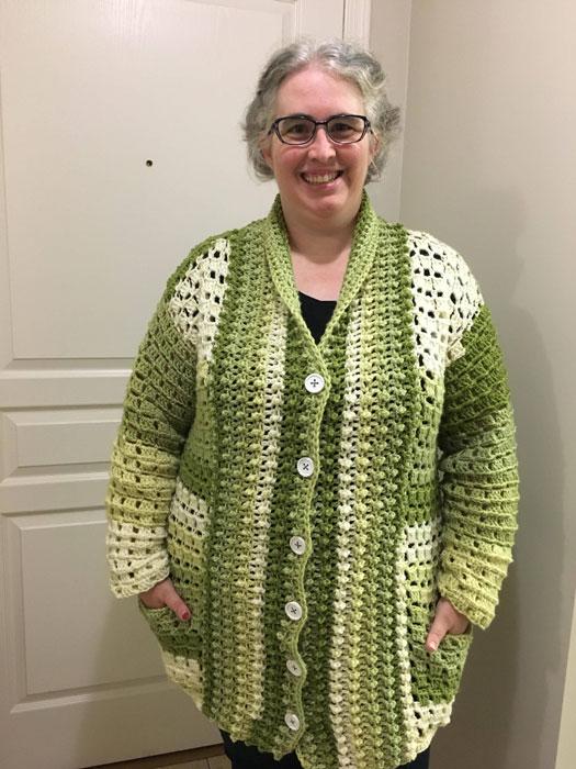 Crochet Cake Envy Cardi by Donna Bondy