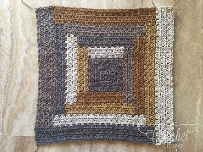 Crochet Log Cabin Quilt Style Modern Granny Afghan The Crochet Crowd