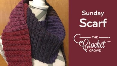Crochet Sunday Ribbed Scarf by Jeanne Steinhilber