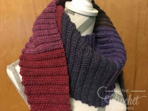 Crochet Sunday Ribbed Scarf by Jeanne Steinhilber