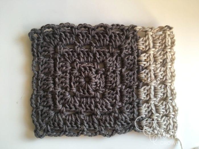 Crochet Log Cabin Quilt Style Modern Granny by Jeanne Steinhilber