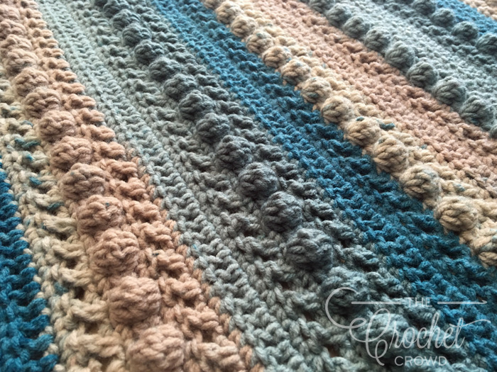 Crochet Little Boy Blue Baby Blanket by Jeanne Steinhilber