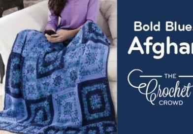 Crochet Bold Blues Afghan