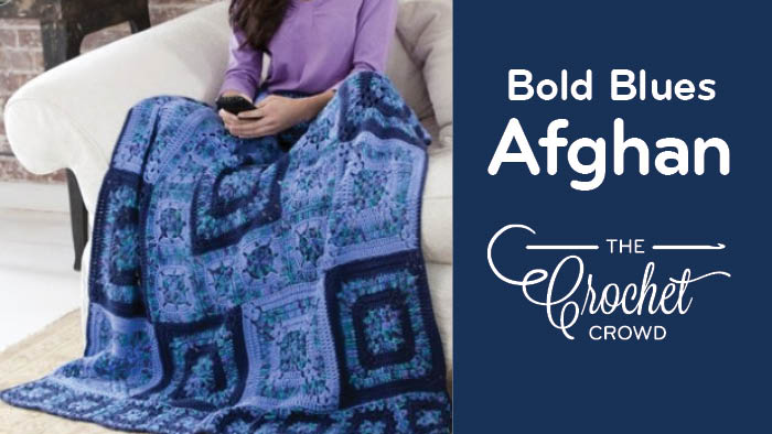 Crochet Bold Blues Afghan