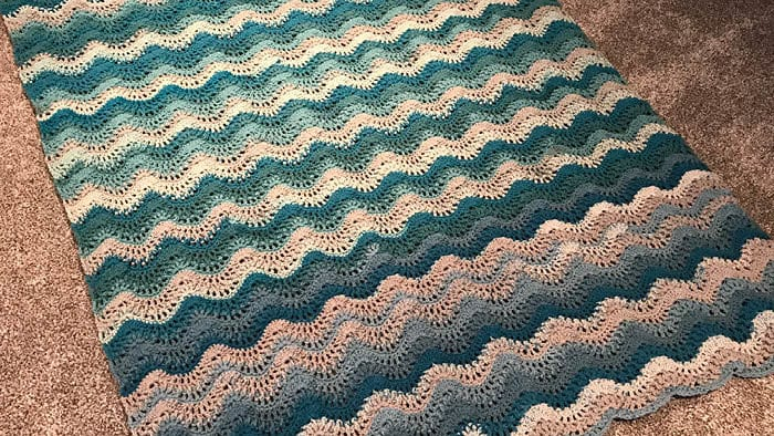 Crochet Breaking Waves Afghan Tutorial The Crochet Crowd