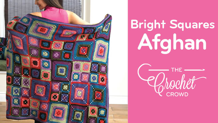 Crochet Bright Squares Throw