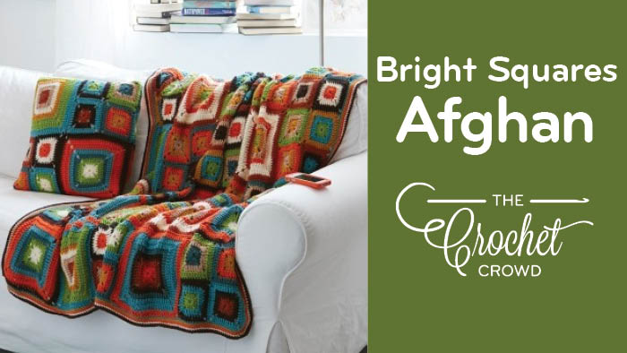 Crochet Bright Squares Blanket Pattern
