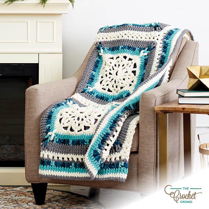 Crochet Country Window Afghan Kit