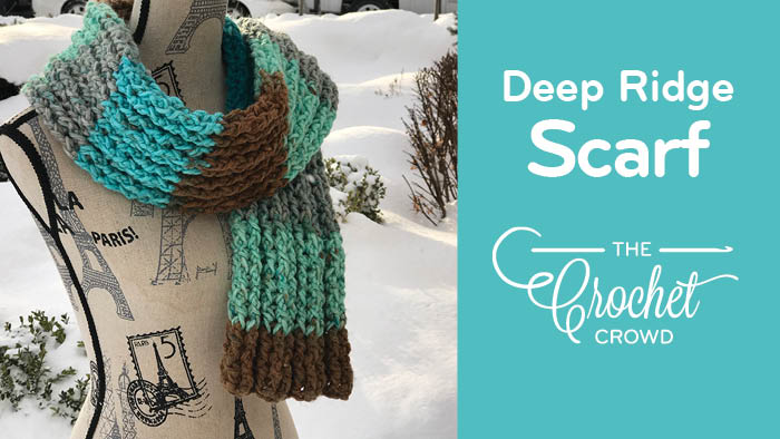 Crochet Deep Ridge Scarf